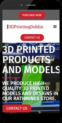 3d printing store mobile web design