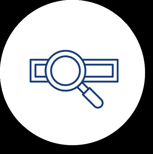 search seo icon blue