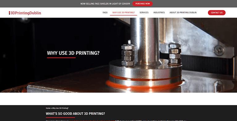 3d printing store web design