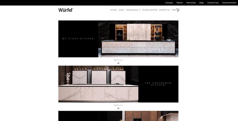 furniture ecommerce store web design