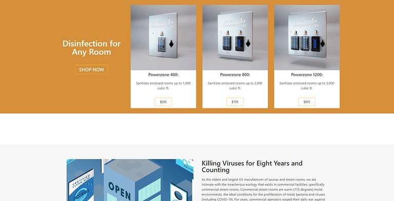 small business site web design