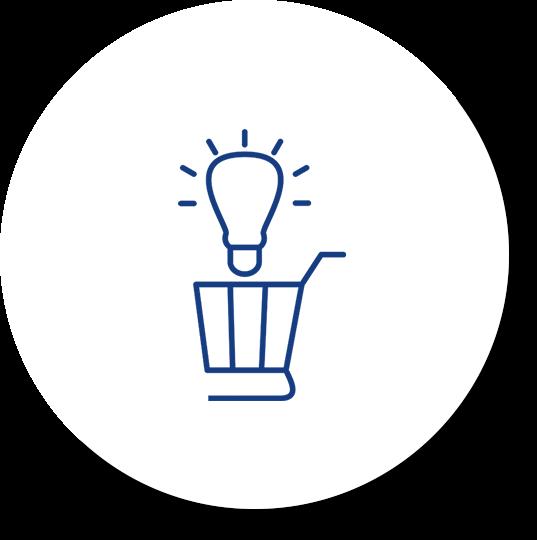 blue shopping cart icon web design