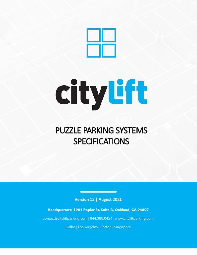 puzzle parking lift structure specifications
