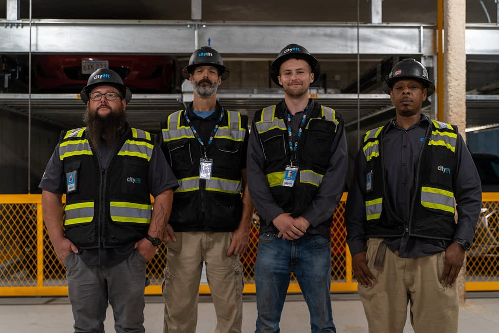 safety team automated parking structure